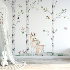 Wall stickers forest friends and birch Yokodesign®