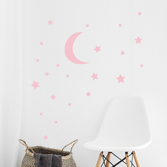 Wall sticker moon with stars