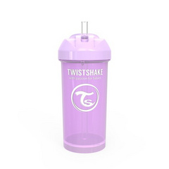 Twistshake® Lonček s slamico 360ml (12+m) Pastel Purple