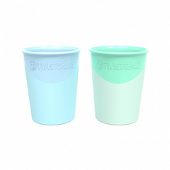Twistshake® 2 kozarčka 170ml (6+m) Pastel Green & Blue